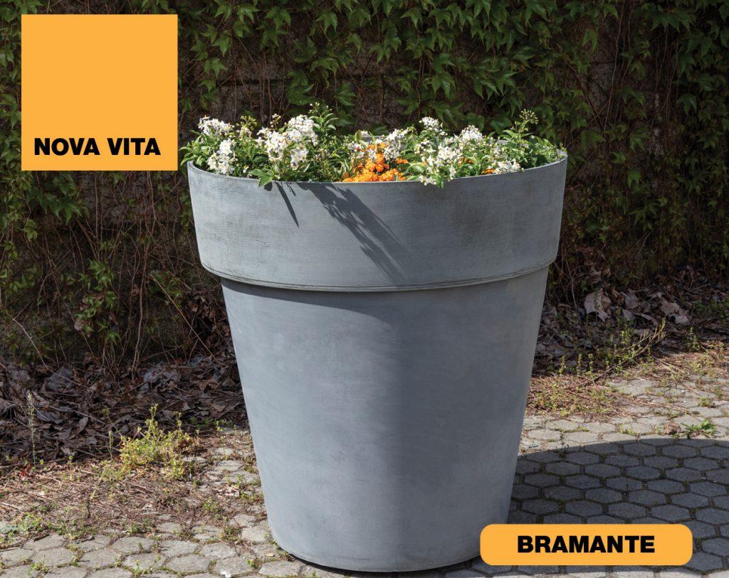 Bramante Vasi in plastica riciclata linea Nova Vita Art Plast