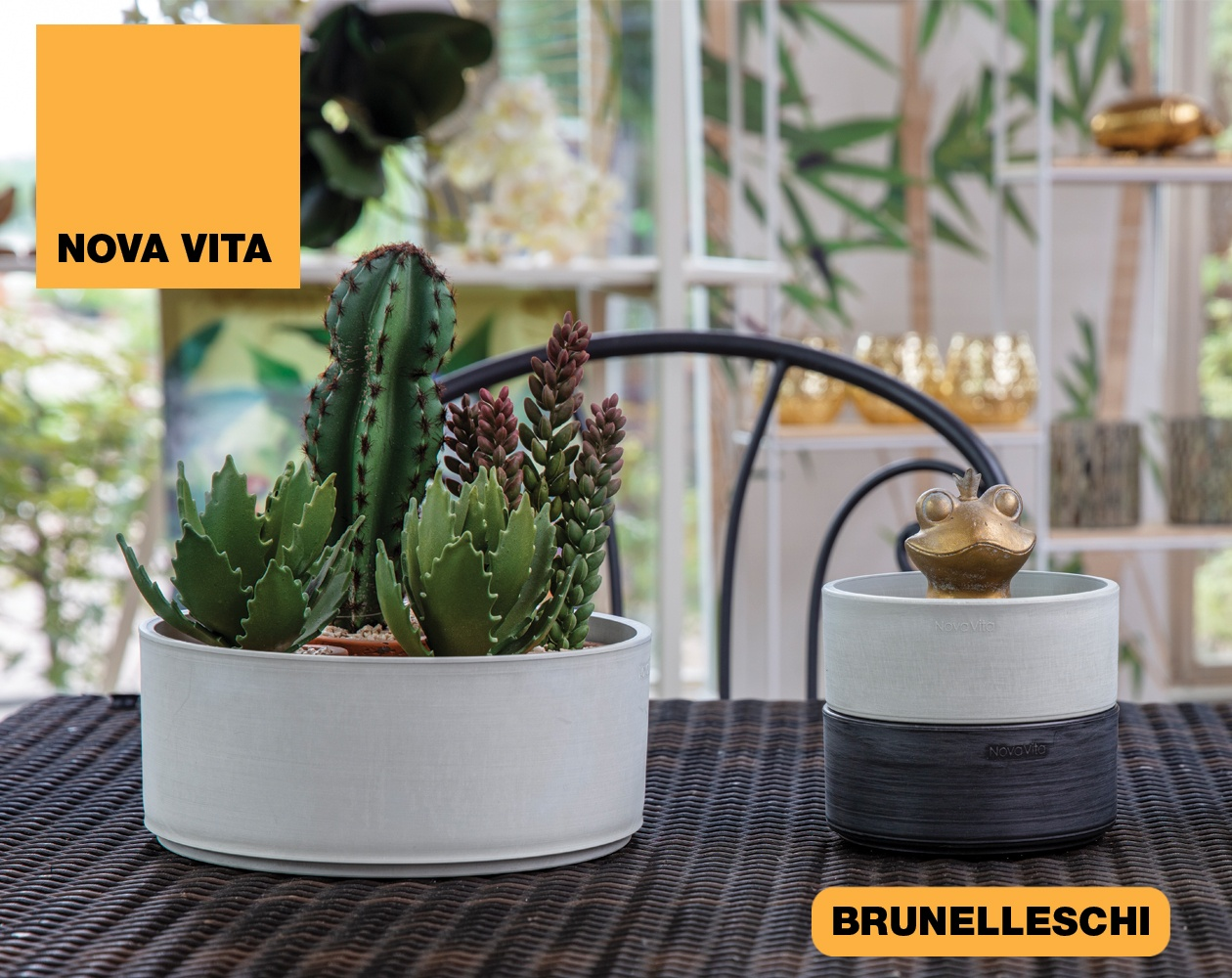 Brunelleschi Vasi in plastica riciclata linea Nova Vita Art Plast