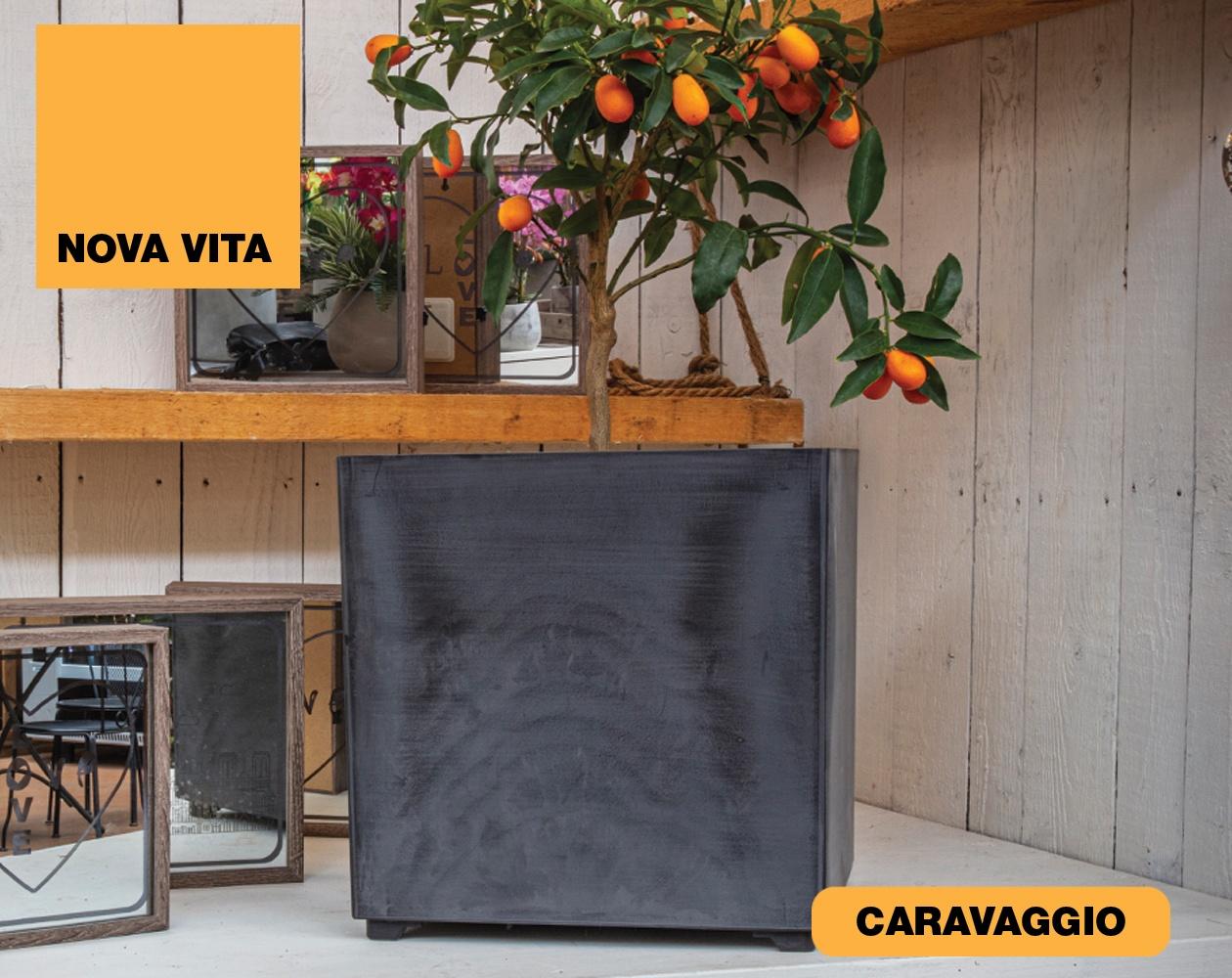 Caravaggio Vasi in plastica riciclata linea Nova Vita Art Plast