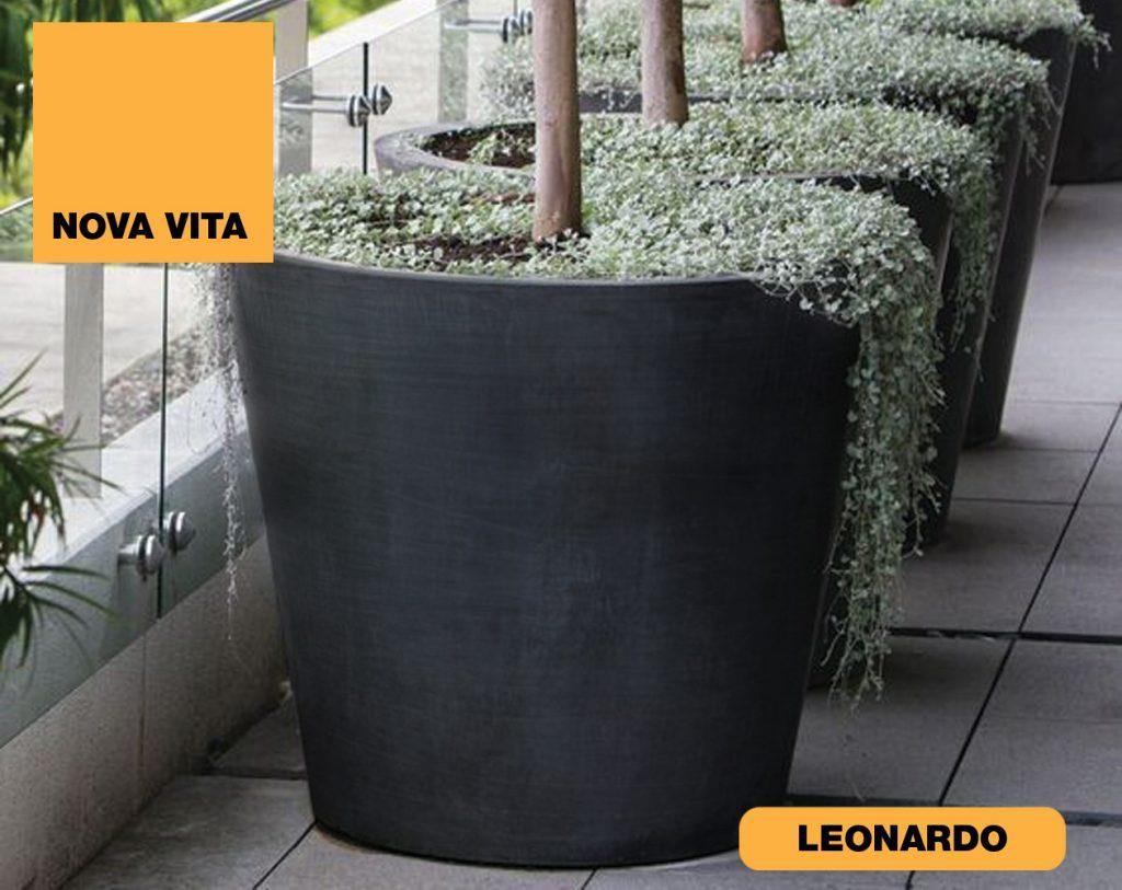 Leonardo Vasi in plastica riciclata linea Nova Vita Art Plast