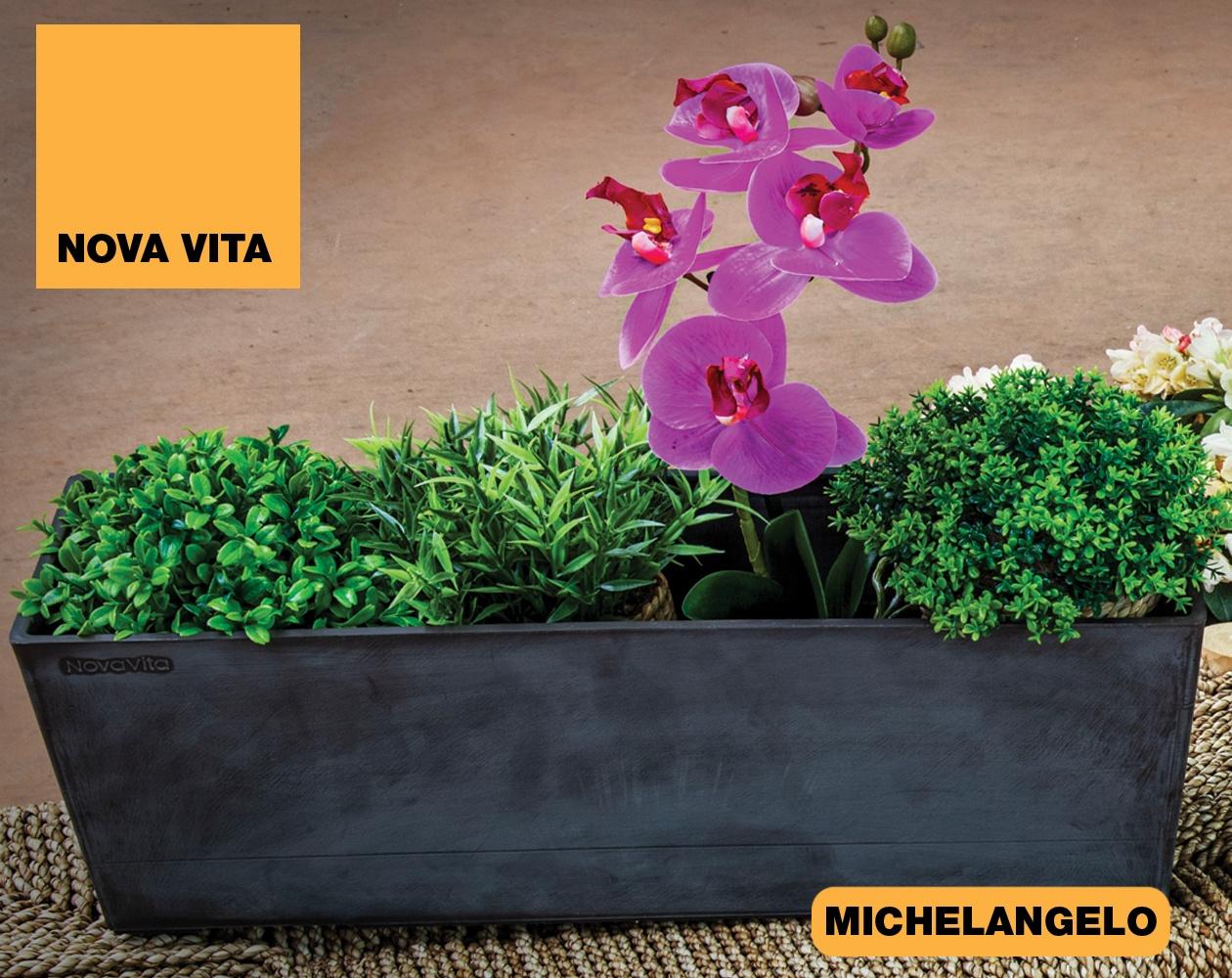 Michelangelo Vasi in plastica riciclata linea Nova Vita Art Plast