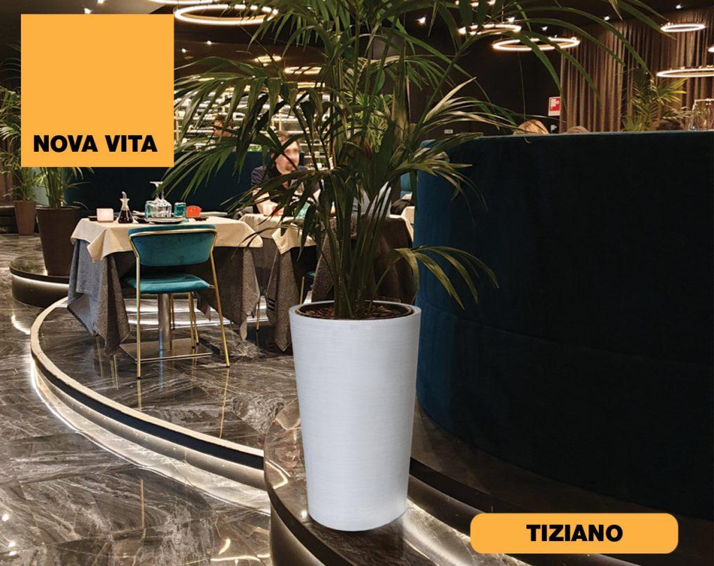 Tiziano Vasi in plastica riciclata linea Nova Vita Art Plast