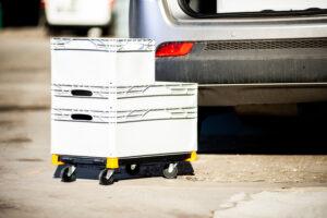 carrello Dolly per contenitori di plastica Eurobox