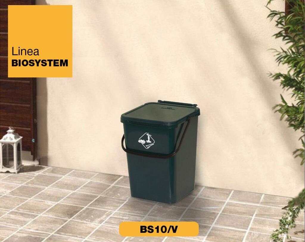 bidoncini pattumiera raccolta differenziata Linea Biosystem Art Plast BS10