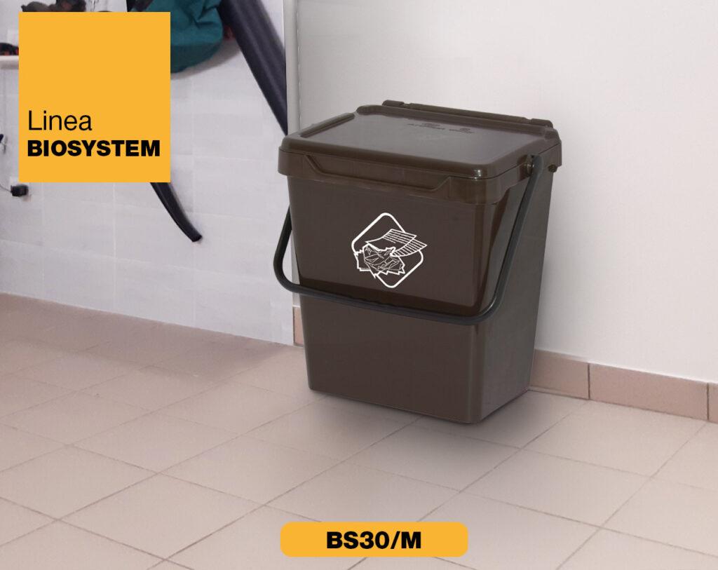 bidoncini pattumiera raccolta differenziata Linea Biosystem Art Plast BS30 M