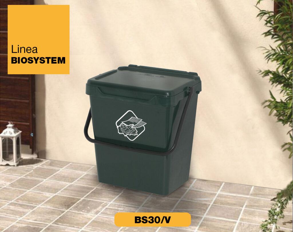 bidoncini pattumiera raccolta differenziata Linea Biosystem Art Plast BS30