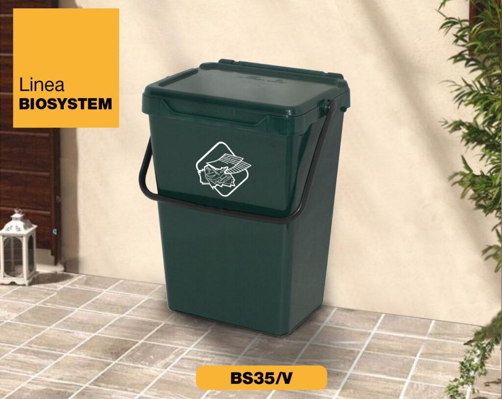 bidoncini pattumiera raccolta differenziata Linea Biosystem Art Plast BS35