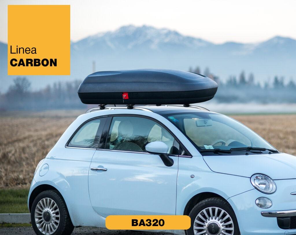 Box Auto da tetto in plastica BA320 Linea Carbon Art Plast