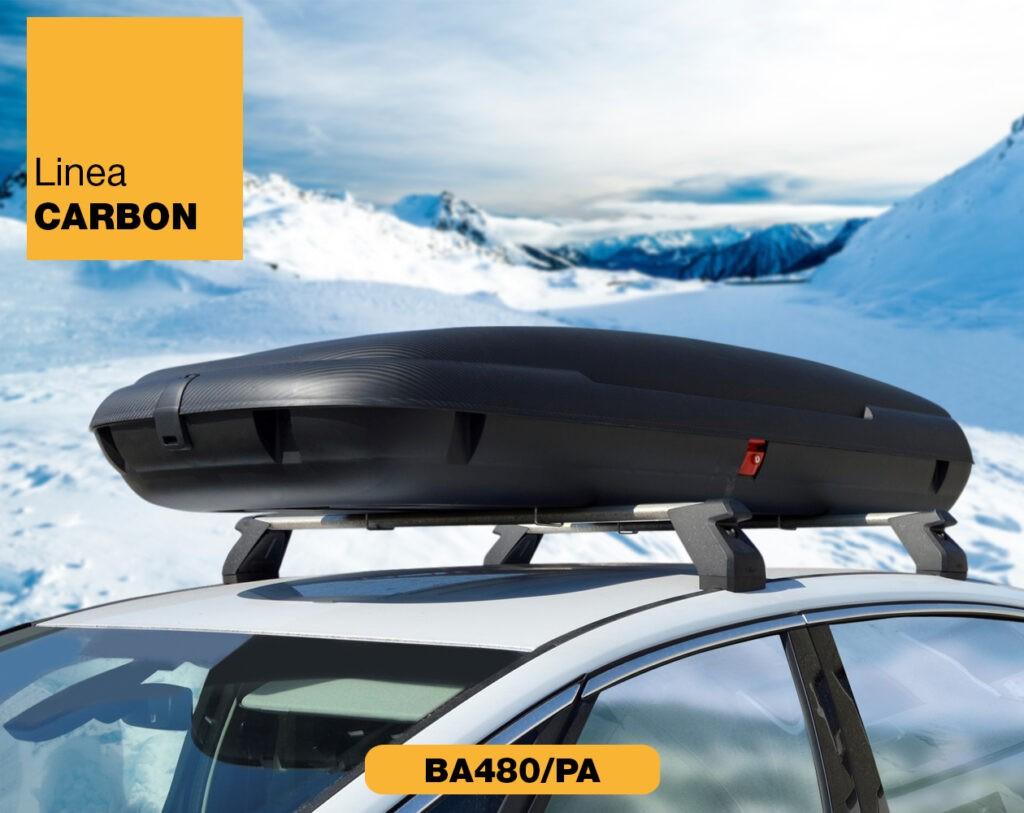 Box auto in plastica con trama carbonio Linea Carbon BA480/PA Art Plast
