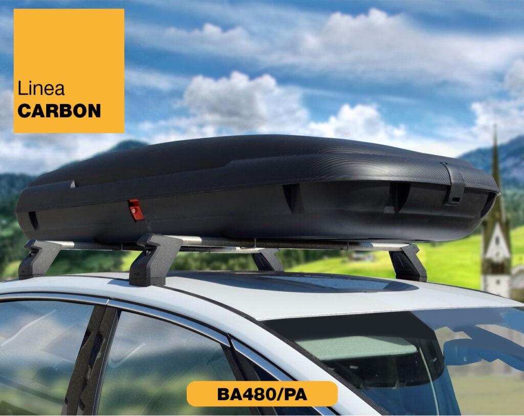 Box auto da tetto Linea Carbon da 480 litri Art Plast