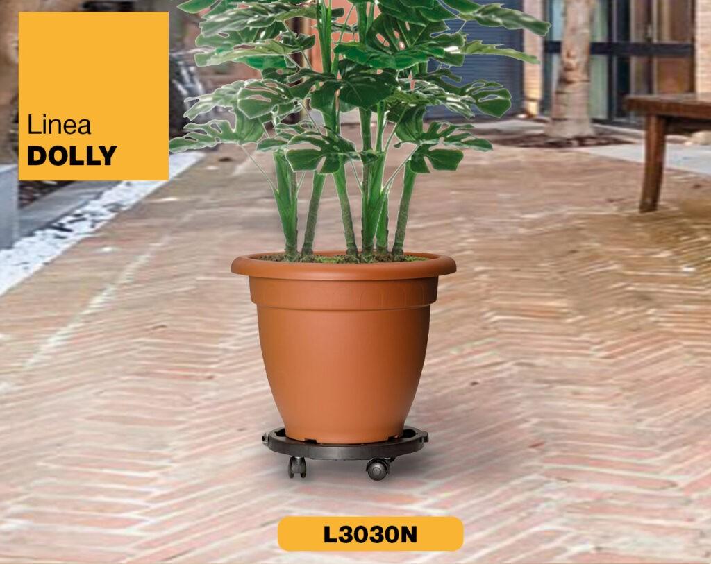 Carrello piattaforma con ruote Linea Dolly Art Plast L3030N