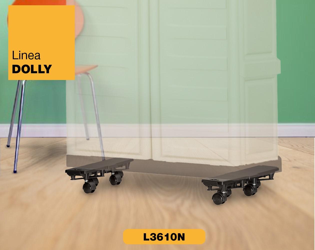 Carrello piattaforma con ruote Linea Dolly Art Plast L3610N