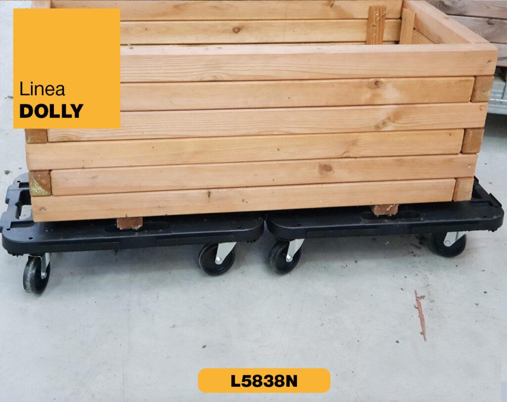 Carrello piattaforma con ruote Linea Dolly Art Plast L5838N