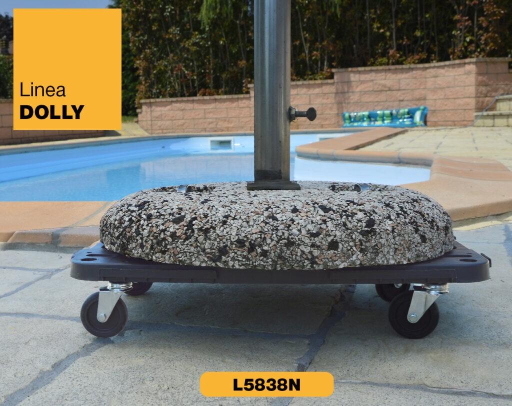 Carrello piattaforma con ruote Linea Dolly Art Plast L5838N_3