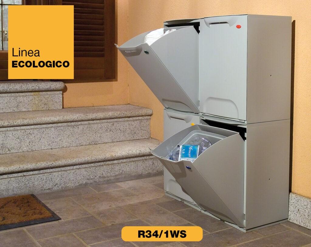 contenitori raccolta differenziata Linea Eco-Logico R34 grigio