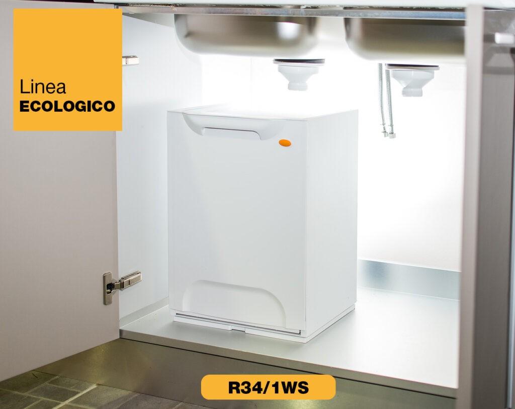 contenitori raccolta differenziata Linea Eco-Logico R34 bianco