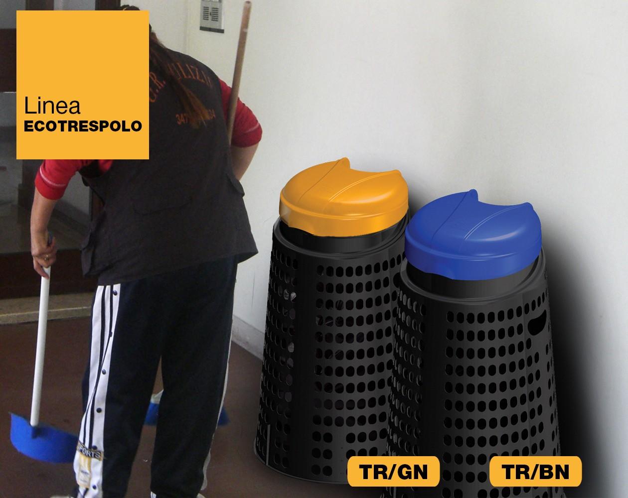 Trespolo rifiuti immondizia Linea Ecotrespolo Art Plast TR/BN, TR/GN