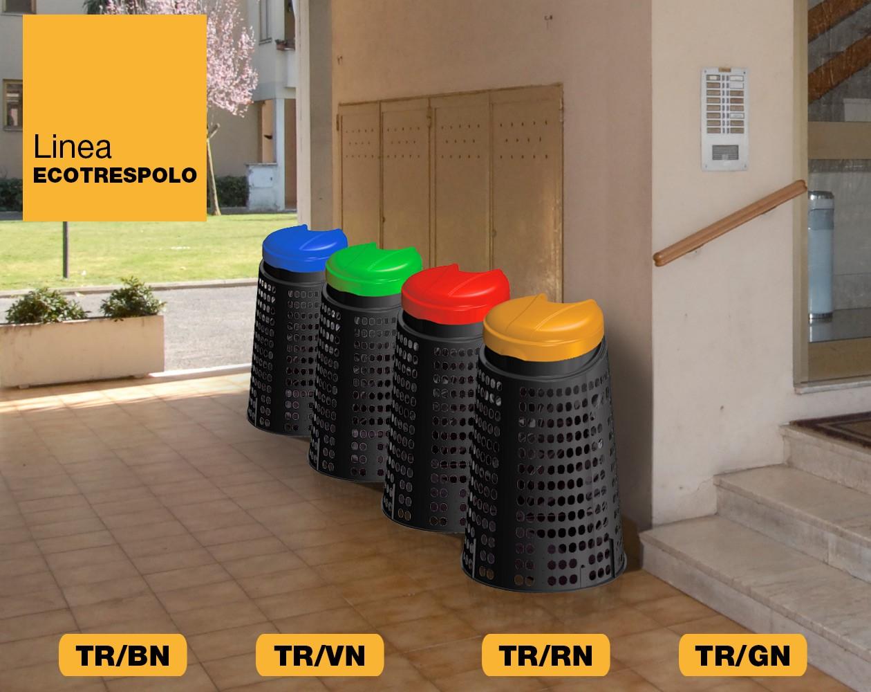 Trespolo rifiuti immondizia Linea Ecotrespolo Art Plast TR/BN, TR/VN, TR/RN, TR/GN