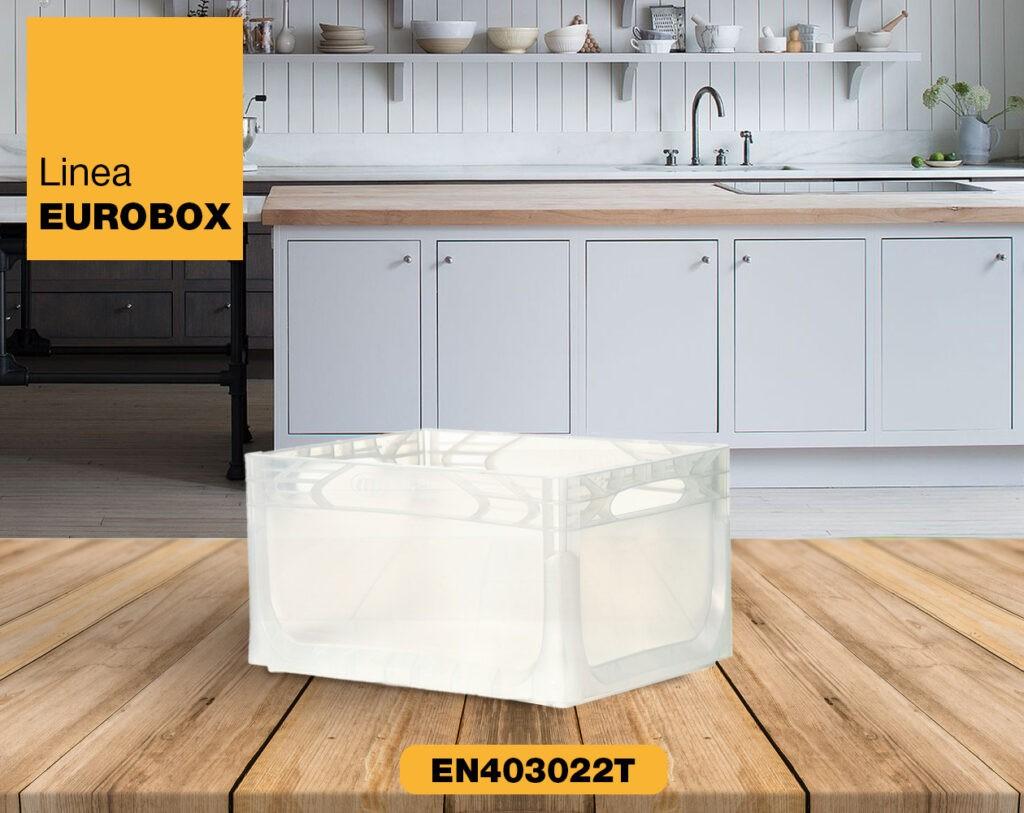 Contenitore in plastica per alimenti EUROBOX EN403022T