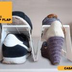 Linea Flip Flap Portascarpe Salvaspazio in Plastica