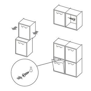 Schemi di montaggio Linea Rattan R34 cassetto portatutto