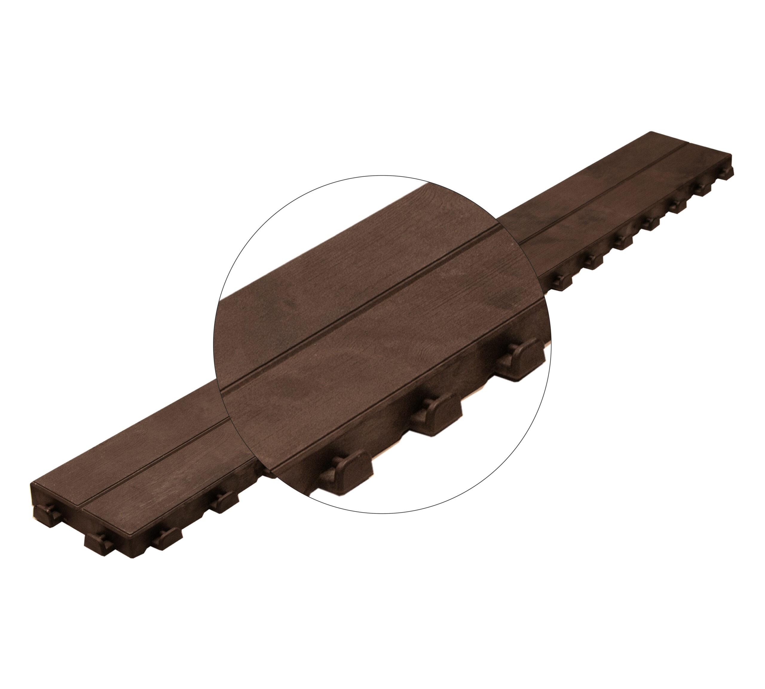 Dettaglio aggancio listello Linea Woodenlike Art Plast