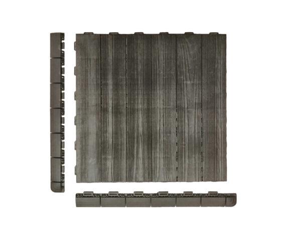 Art Plast piastrella in plastica effetto legno Linea Marte Linear profili laterali