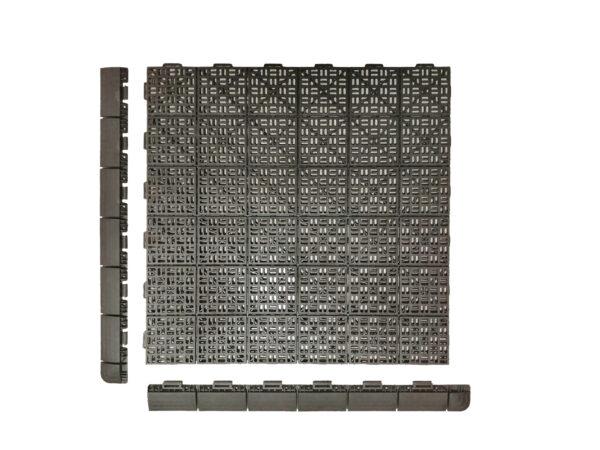 Art Plast piastrella in plastica effetto legno Linea Marte Draining profili laterali