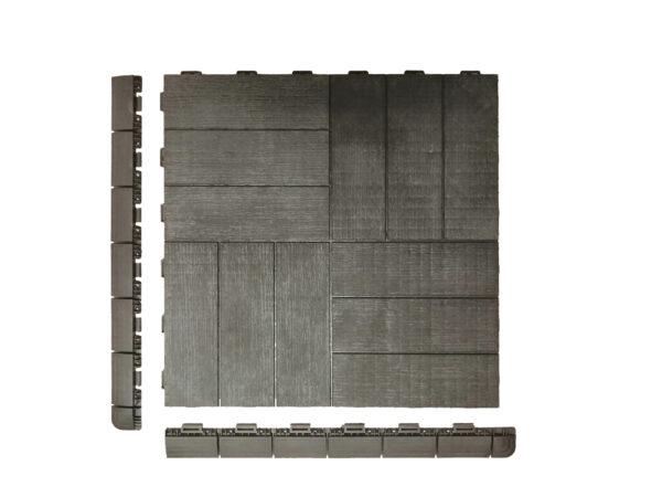Art Plast piastrella in plastica effetto legno Linea Marte Crossed profili laterali