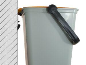 contenitori raccolta differenziata Linea Eco-Logico anti randagismo RS aggancio a muro